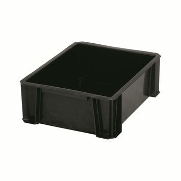 Boîte de rangement empilable 8 L noir
