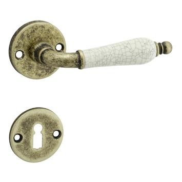 GAMMA deurklink Hasselt rozet rond oud brons