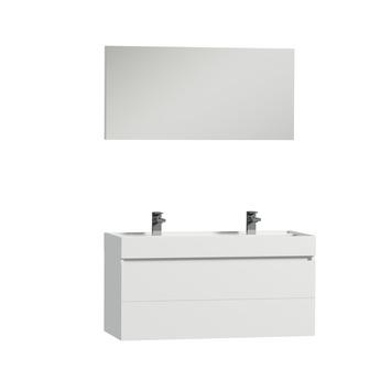 Tiger Items badkamerset 105 cm wit met wastafel polybeton wit