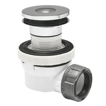 Wirquin XS Pure wastafelsifon Quick Clac 100 mm ruimtebesparend