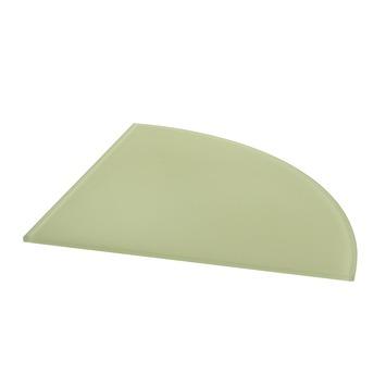 Tablette en verre Duraline quart de rond cristal 6 mm 25x25 cm