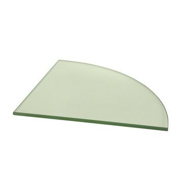 Duraline glaspaneel kwartrond helder 6 mm 25x25 cm