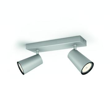 Philips Paisley duobalk 2x GU10 exclusief lampen max. 10 W aluminium