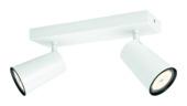 Philips Paisley duobalk 2x GU10 exclusief lampen max. 10 W wit