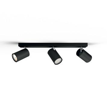 Philips Kosipo triobalk 3x GU10 exclusief lampen max. 10 W zwart
