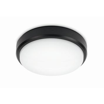 Prolight plafonnière met geïntegreerde led 12 W 850 Lm koud wit IP54 21 cm zwart