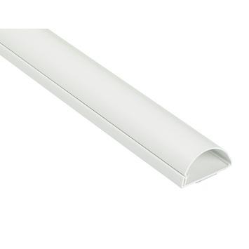 Moulure demi-cercle auto-adhésif 50x25mm 1,5 m blanc