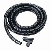 Organiseur de câbles 25 mm 2m noir