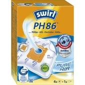 Sac à poussière Swirl PH86 4 pièces pour aspirateur Philips FC8326/09