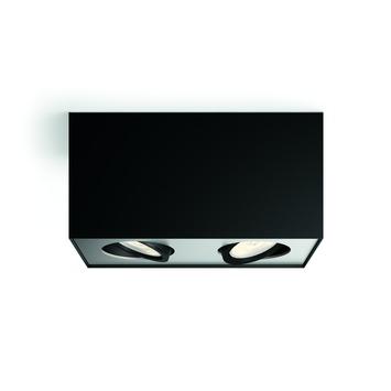 Philips Opbouwspot MyLiving Box LED Zwart 2 x 4.5W