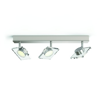 Philips Golygon triobalk met geïntegreerde LED 3x 4,5 W inox