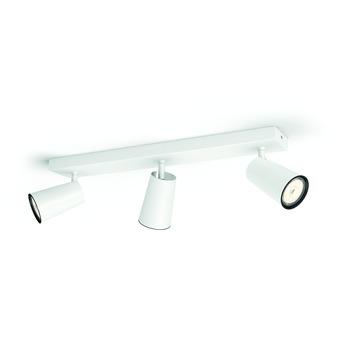 Support 3 spots Paisley Philips 3x GU10 sans ampoules max. 10 W blanc