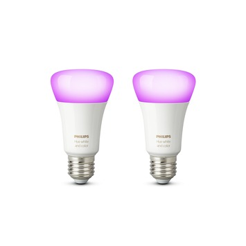 Philips Hue White and Color lamp E27  806 Lm 10 W dimbaar 2 stuks