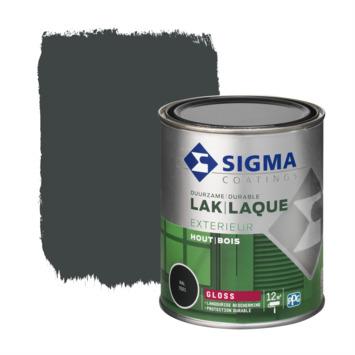 Sigma lak exterieur gloss 750 ml zwartgrijs