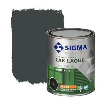 Sigma laque extérieure satin 750 ml gris noir