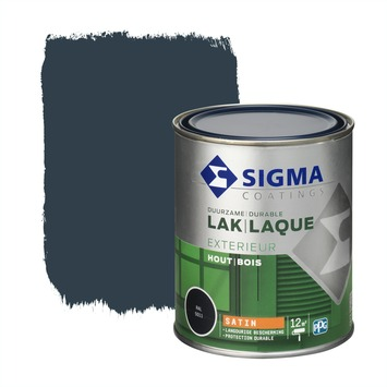 Sigma lak exterieur sat 750 ml staalblauw