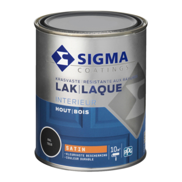 Sigma lak interieur satijn 750 ml antracietgrijs