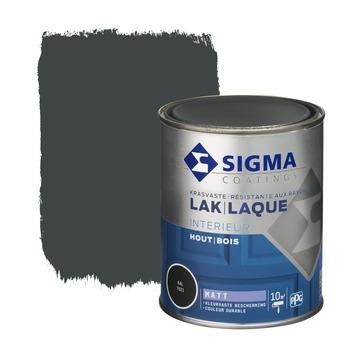 Sigma lak interieur mat 750 ml zwartgrijs