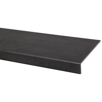 Marche en stratifié CanDo rénovation d'escalier 100x30 cm Béton anthracite