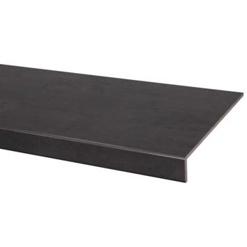 Marche en stratifié CanDo rénovation d'escalier 130x38 cm Béton anthracite
