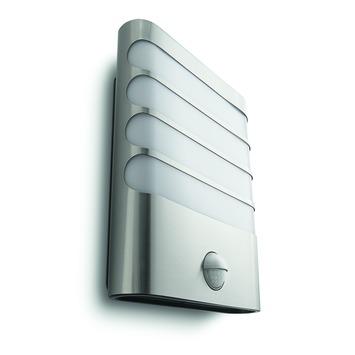 Applique extérieure avec détecteur de mouvement Raccoon Philips LED intégrée 3W 270 lumens inox