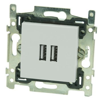 Niko stopcontact 2x USB smart wit