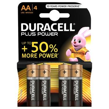 Piles Duracell Plus Power AA 4 pièces
