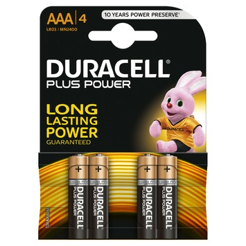 Piles Duracell Plus Power AAA 4 pièces