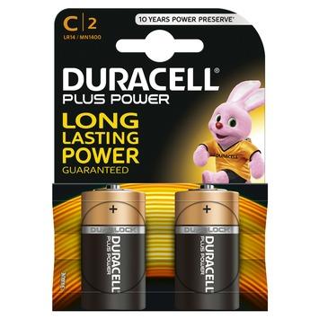 Piles Duracell Plus Power type C 2 pièces