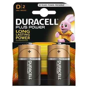 Piles Duracell Plus Power type D 2 pièces