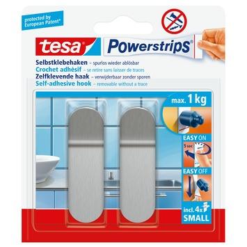 Tesa powerstrips zelfklevende haak small metaal 2 stuks