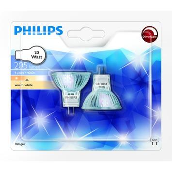 Ampoule halogène à réflecteur Philips GU4 204 Lm 20W