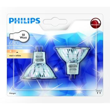 Ampoule halogène à réflecteur Philips GU5,3 680 Lm 50W dimmable