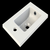 Lavabo Malia 40 cm Allibert pour lave-main Renji