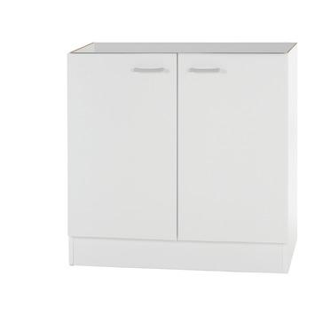 Élément sous-évier 2 portes Optifit Klassik60 82x80x60 sans plan de travail