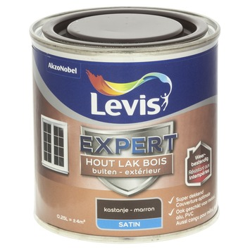 Levis Expert lak buiten zijdeglans kastanje 250 ml