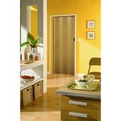 Porte accordéon Una Grosfillex PVC 205x84 cm couleur bois