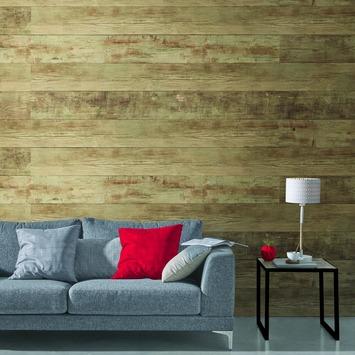 Grosfillex paneel Element 3D PVC bruin rustiek 2,925 m²