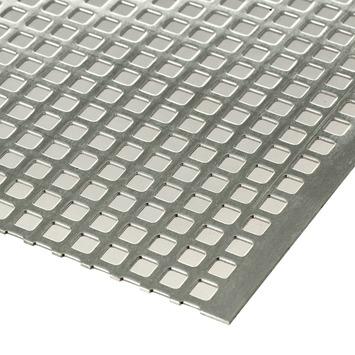 Plaat geperforeerd 1000x500x1 mm aluminium
