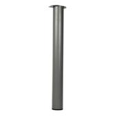 Pied de table rond 720x76 mm gris argenté