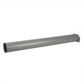 Tafelpoot rond 720x76 mm zilvergrijs