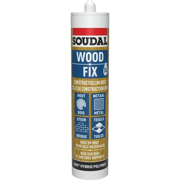 Soudal montagelijm Wood fix 300 ml