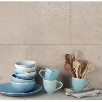 Grosfillex paneel GX Wall creme slate afm. 30x60 cm 1,98 m², 11 stuks