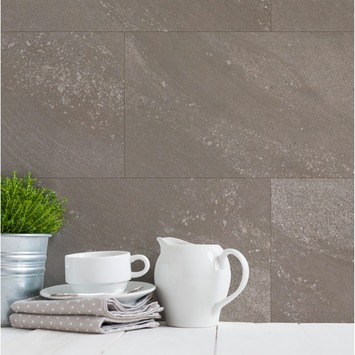 Grosfillex paneel GX Wall steen grege afm. 30x60 cm 1,98 m², 11 stuks