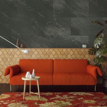 Grosfillex paneel GX Wall donker antraciet afm. 30x60 cm 1,98 m², 11 stuks