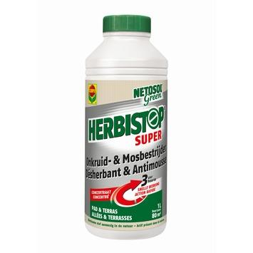 Désherbant et antimousse Herbistop Super Compo Netosol Green allées & terrasses 1 L