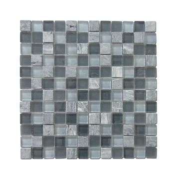 Wandtegel Mozaïek Tuscany Grijs 23x23 mm 0,09 m²