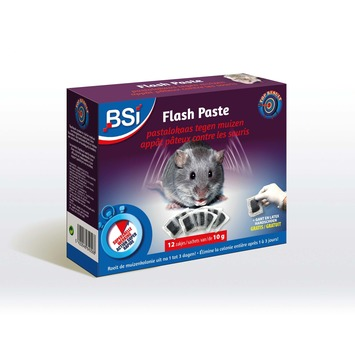 BSI Flash paste pastalokaas tegen muizen 12x10 g