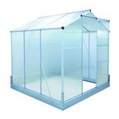Tuinserre alu/polycarbone 190x190x195 cm