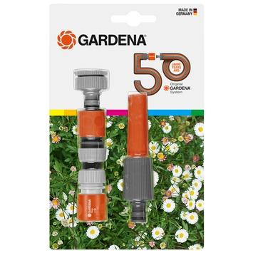 Kit de base 50 ans Gardena nez de robinet, lance et raccords
